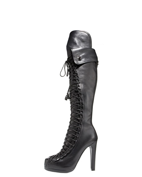 Lace-Up Corset Boot