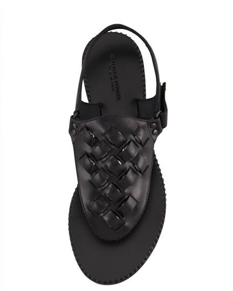Studded Slingback Thong Sandal