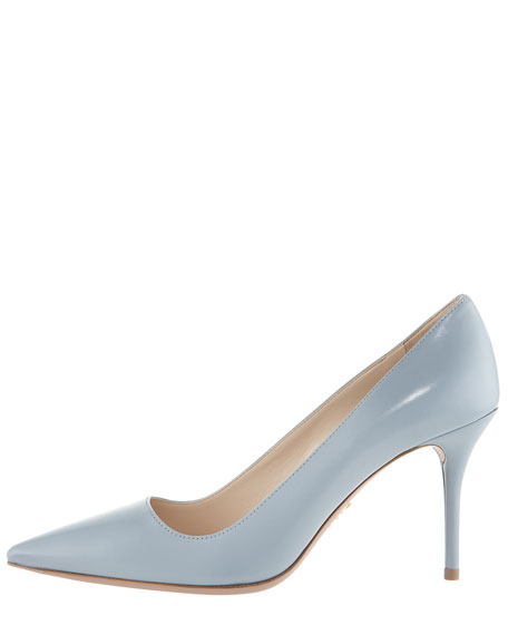 Leather Pointed Toe Pump