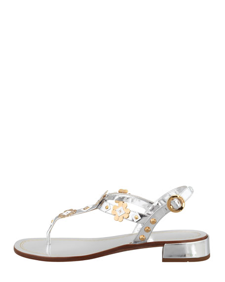 Metallic Floral Sandal