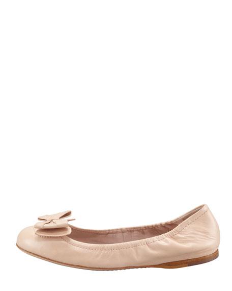 Ballerina Bow Flat, Nude