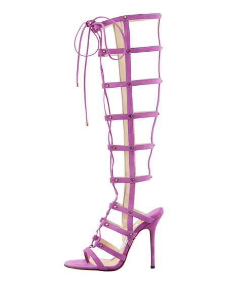 Mogul Tall Cage Gladiator Boot, Orchid