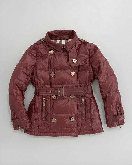 Mini Glossy Hooded Coat
