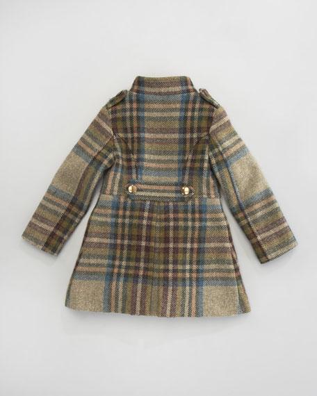 Plaid Military Coat