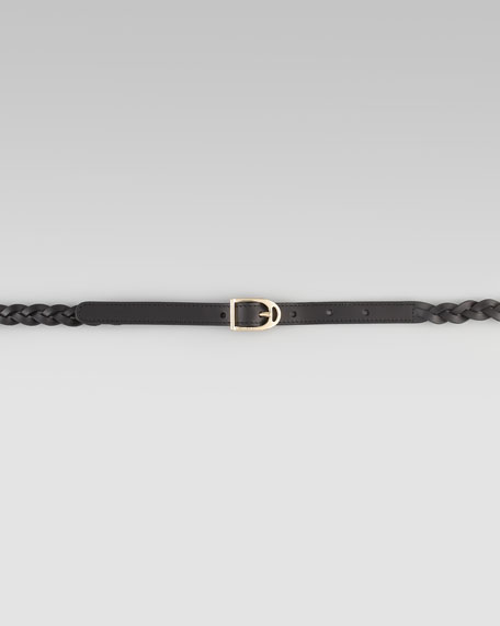 Adjustable Leather Bridle Belt