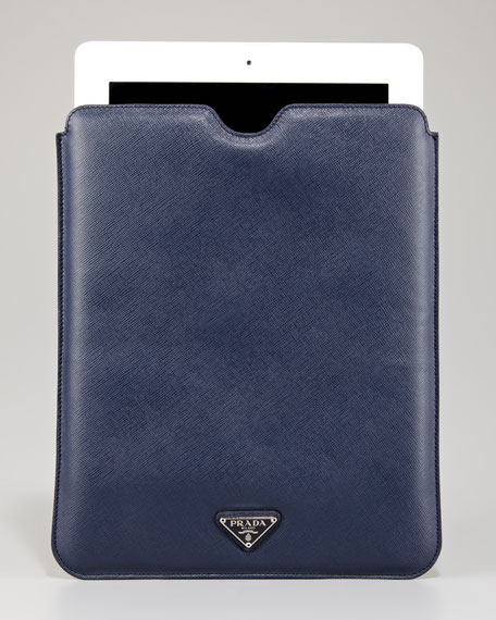 Saffiano iPad Case, Blue