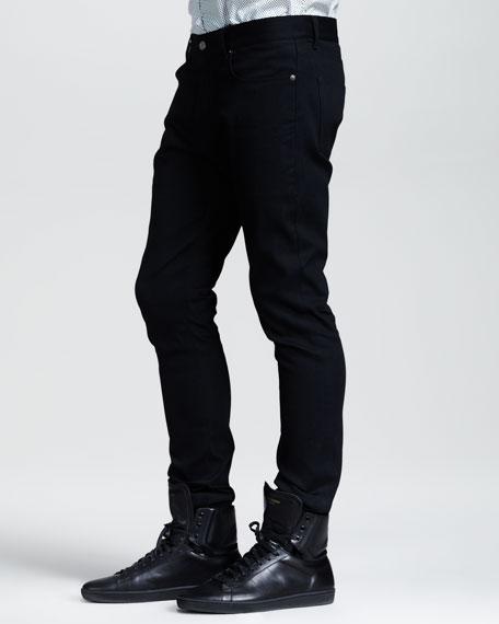 Lightweight Skinny Jeans, Black