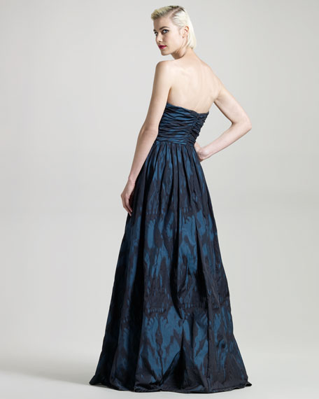 Two-Tone Jacquard Sweetheart Gown