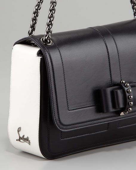 Sweet Charity Two-Tone Calfskin Flap Bag