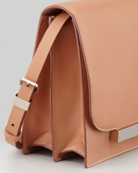 Classic Leather Shoulder Bag, Brown