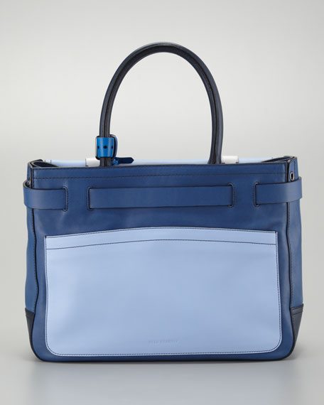 Boxer Tote Bag, Blue/Multicolor