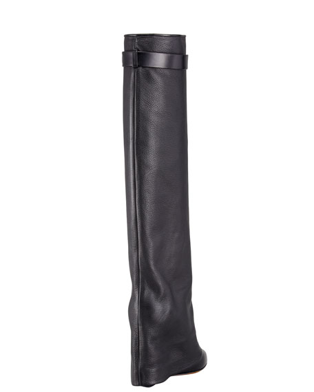 Pant-Leg Wedge Boot