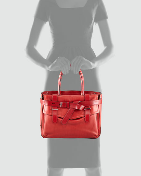Boxer Tote Bag, Red