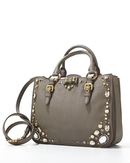 Madras Jewel East-West Satchel Bag