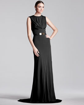 Elie Saab Sleeveless Jersey Gown