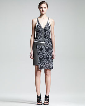 Helmut Lang Medallion-Print Rubber Dress