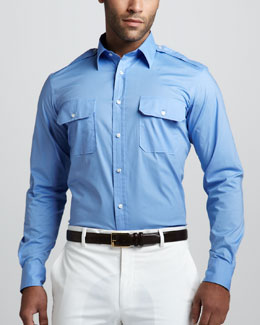 Ralph Lauren Black Label Two-Pocket Military Shirt