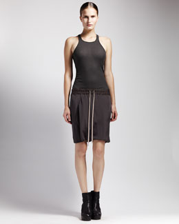 Rick Owens Basic Ribbed Tank & Drawstring Skirt