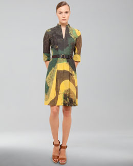 Akris Garden-Print Cotton Voile Dress