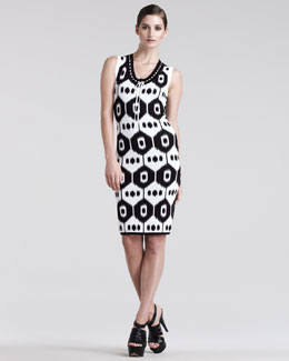 Altuzarra Dust Ikat-Print Jersey Dress