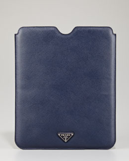 Prada Saffiano iPad Case, Blue