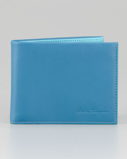 Salvatore Ferragamo Pop Bicolor Leather Bi-Fold Wallet