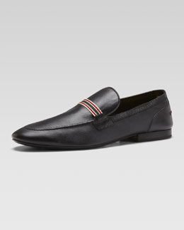 Gucci Soft Leather Moccasin, Black