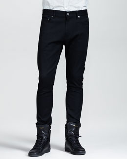 Saint Laurent Lightweight Skinny Jeans, Black