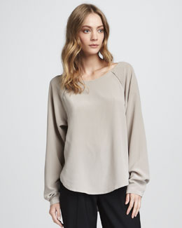 Vince Silk Raglan Top