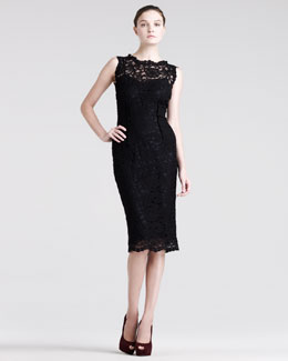 Pierre Balmain Fitted Lace Dress