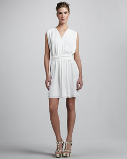 Rachel Zoe A-Line Sleeveless Silk Dress