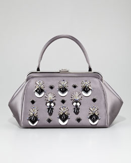 Prada Raso Ricamo Framed Doctor's Bag