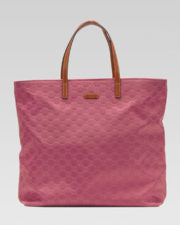 Gucci Nylon Guccissima Tote Bag, Vintage Rose