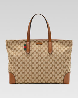 Gucci Large Original GG Canvas Tote Bag