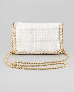 Stella McCartney Metallic Boucle Crossbody Bag, Natural
