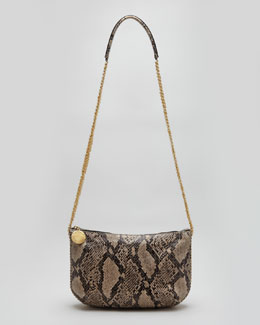 Stella McCartney Faux Python Crossbody Bag, Nude