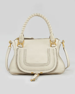 Chloe Marcie Medium Shoulder Bag, White