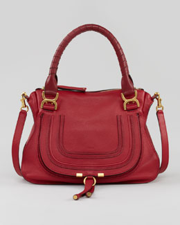 Chloe Marcie Medium Shoulder Bag, Red