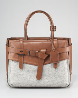 Reed Krakoff Boxer Tote Bag, Grey Saddle