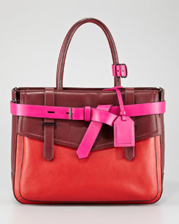 Reed Krakoff Boxer Tote Bag, Crimson Multi
