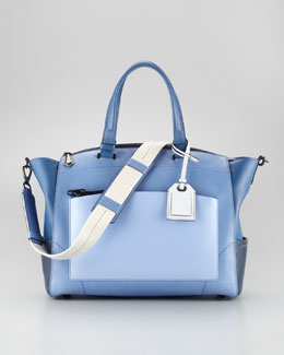Reed Krakoff Uniform Satchel Bag, Blue Ombre