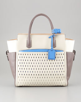 Reed Krakoff Atlantique Tote Bag, White/Multicolor