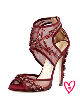 Jimmy Choo BG 111th Anniversary Crystal-Embroidered Sandal