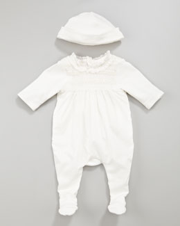 Chloe Smocked Playsuit and Hat Set