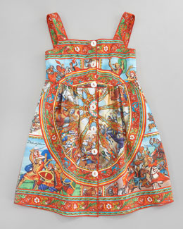 Dolce & Gabbana St. Carretto Poplin Sun Dress, Sizes 4-6