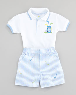 Florence Eiseman Miniature Golf Knit Two Piece Set Shirt and Short