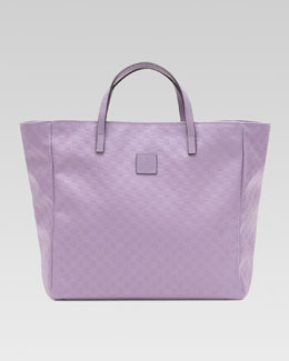 Gucci Girls' Micro Guccissima Tote Bag, Glicine