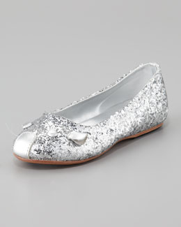 Little Marc Jacobs Glitter Mouse Ballerina Shoe