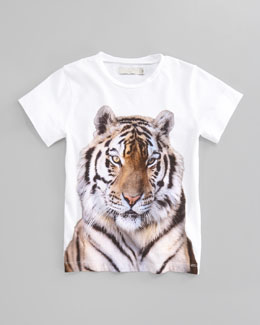 Stella McCartney Violet Tiger Graphic Tee