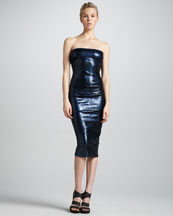 Donna Karan Twisted Tube Dress, New Navy